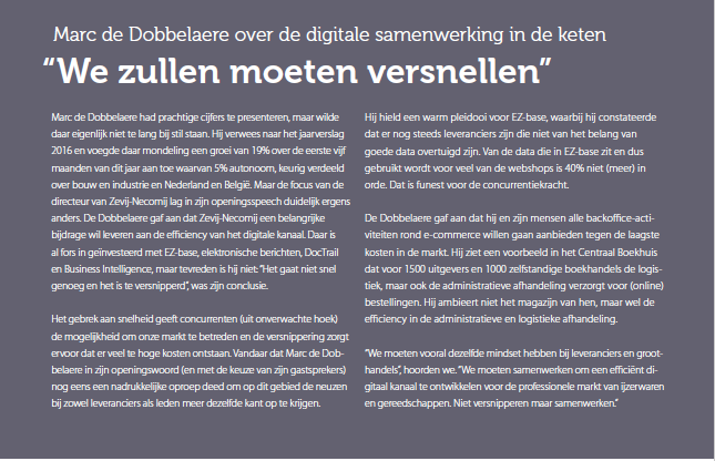 Digitale samenwerking in de keten zal moeten versnellen (2017-6-23)
